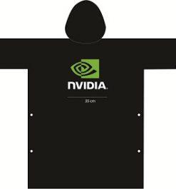 Áo mưa quảng cáo NVIDIA trơn