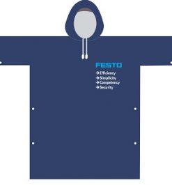 Áo mưa quảng cáo vải dù FESTO