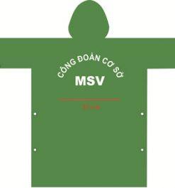 Áo Mưa Quà Tặng Vải Dù MSV