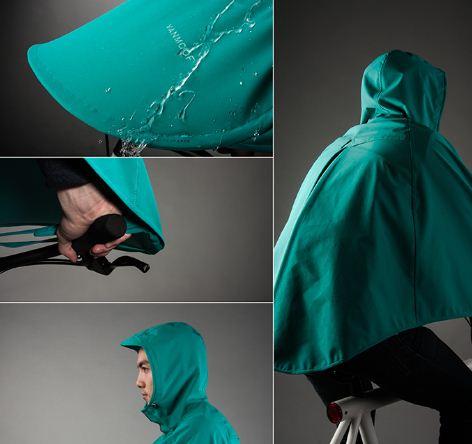 Chiếc áo mưa dành riêng cho người đi xe đạp