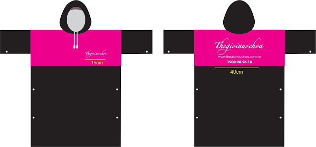 Những mẫu thiết kế áo mưa quảng cáo